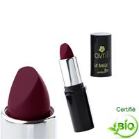 Photos de rouge à lèvres aubergine